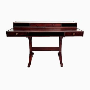 Italian Model 530 Rosewood Desk by Gianfranco Frattini for Bernini, 1960s