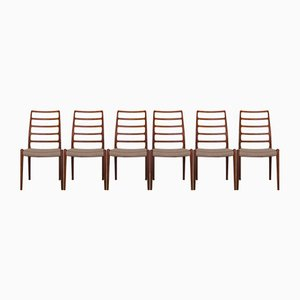 Teak Dining Chairs by Niels Otto Møller for J.L. Møllers, 1960s, Set of 6