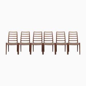 Teak Esszimmerstühle von Niels Otto Møller für JL Møllers, 1960er, 6er Set