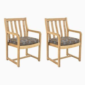 Oak Armchairs, 1950s, Set of 2