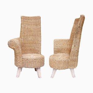 Gartenstühle aus geflochtenem Seil, 1960er, 2er Set