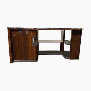 Bauhaus Deutscher Makassar & Schwarz Lackierter Schreibtisch, 1930er
