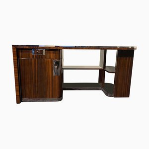 Bauhaus German Macassar and Black Lacquer Desk, 1930s