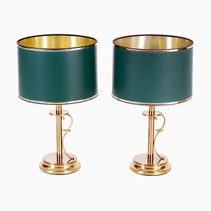 Mid-Century Scandinavian Brass Table Lamps from AB Stilarmatur Tranås, 1960s, Set of 2