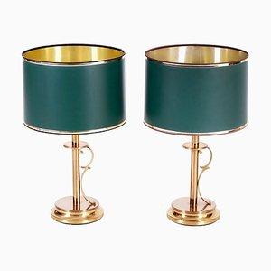 Mid-Century Scandinavian Brass Table Lamps from AB Stilarmatur Tranås, 1960s, Set of 2