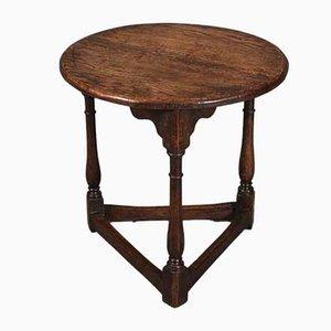Antiker Cricket Tisch aus Massiver Eiche, 1780er