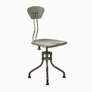 Chaise de Salle à Manger Modèle M42 Vintage Industrielle par Henri Liber pour Flambo, années 30