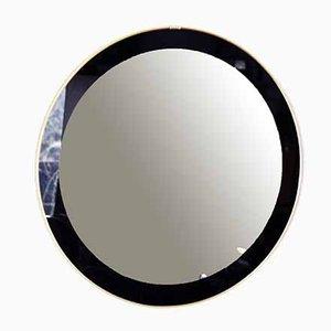 Espejo negro y dorado, años 60