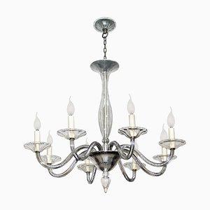 Lámpara de araña Art Déco de cristal de Murano de Vittorio Zecchin para MVM Cappellin, años 20