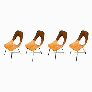 Dining Chairs by Augusto Bozzi for Saporiti Italia, 1950s, Set of 4