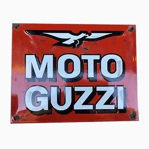 Emaille Werbeschild von Moto Guzzi, 1960er