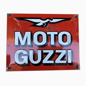 Enamel Advertising Sign from Moto Guzzi, 1960s