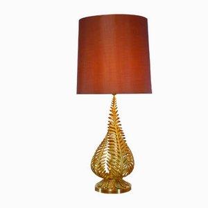 Lampe de Bureau Dorée Vintage