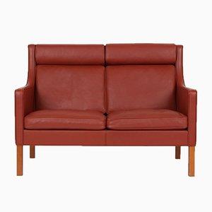 Sofá de dos plazas modelo 2432 vintage de Børge Mogensen para Fredericia