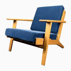 Danish Model GE 290 Lounge Chair by Hans J. Wegner for Getama, 1970s
