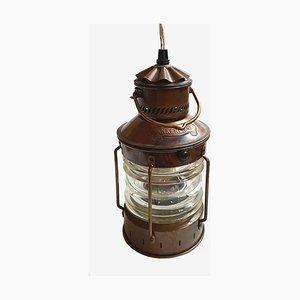 Lanterne Électrique Vintage en Cuivre de Den Haan Rotterdam, Pays-Bas