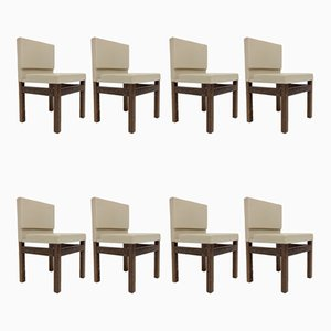 Belgian Wenge Dining Chairs, 1960s, Set of 8