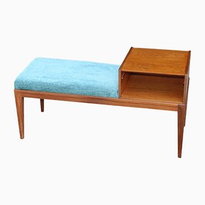 Vintage Teak Telephone Bench, 1960s