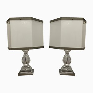 Plexiglass Table Lamps, 1960s, Set of 2