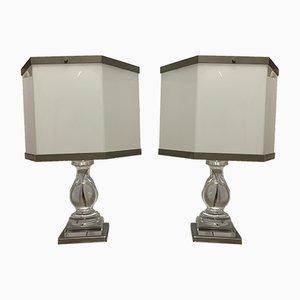 Plexiglass Table Lamps, 1960s, Set of 2