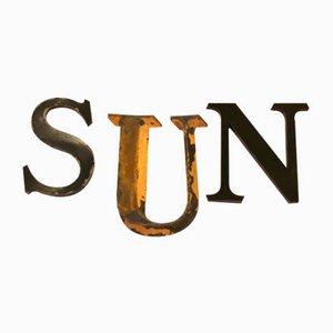 Panneaux du Soleil Vintage, France, années 30, Set de 3