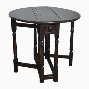 Mesa auxiliar inglesa pequeña de roble, siglo XVIII