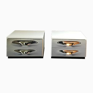 Nightstands by Raymond Loewy for Doubinsky, 1960s, Set of 2
