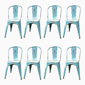 Vintage Dining Chairs, 1980s, Set of 8