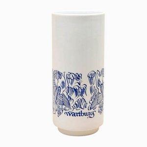 Vase en Porcelaine de VEB Kunstporzellan Ilmenau, années 70