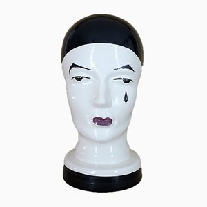 Ceramic Head Sculpture from Scheurich, 1970s