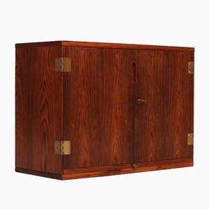 Rosewood and Black Formica Wall Unit by Svend Langkilde for Langkilde, 1960s