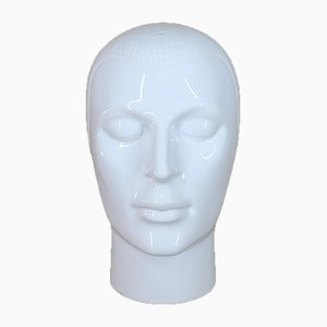 Ceramic Head Sculpture from Royal Delft, 1970s