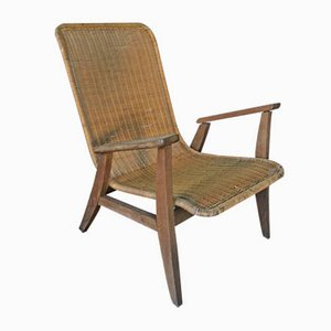 Rattan Lounge Chair, 1950s