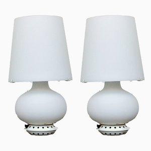 Lampes de Bureau Modèle 1853 par Max Ingrand pour Fontana Arte, années 70, Set de 2