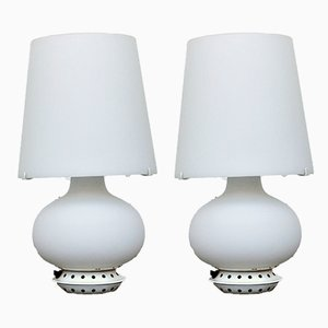 Model 1853 Table Lamps by Max Ingrand for Fontana Arte, 1970s, Set of 2