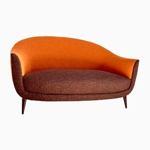Italian Curved 2-Seater Sofa by Federico Munari for ISA Bergamo, 1950s