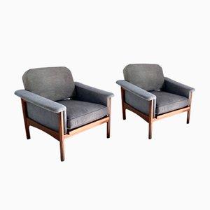 Graue italienische Sessel von Minotti Renzo für Minotti, 1960er, 2er Set