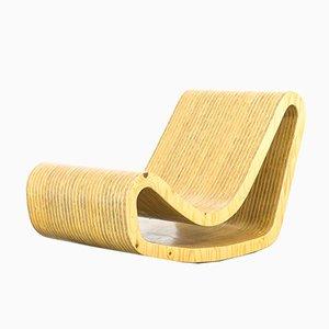 Sedia a dondolo vintage in legno