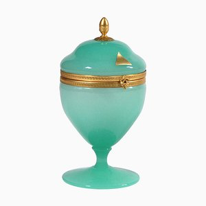 Vintage Murano Glass Jewelry Box from Opaline Veritable Murano, 1960s