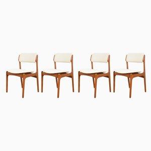 Chaises de Salle à Manger Mid-Century en Teck par Erik Buch pour O. D. Møbler, Danemark, années 60, Set de 4