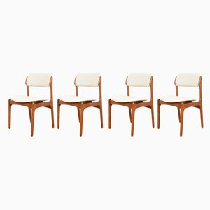 Mid-Century Danish Teak Dining Chairs by Erik Buch for O.D. Møbler, 1960s, Set of 4