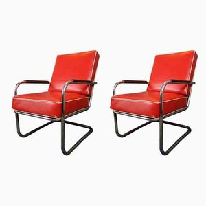 Bauhaus Cantilever Lounge Chairs by Anton Lorenzfor Desta, 1920s, Set of 2