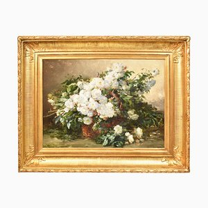 Antique Flower Painting by Thurner Gabriel Edouard