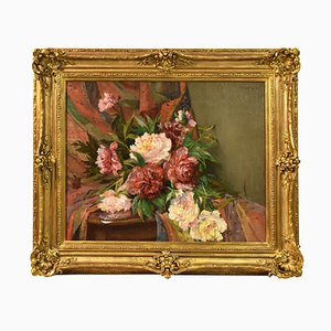 Antique Flower Painting by Eschbach Paul André Jean