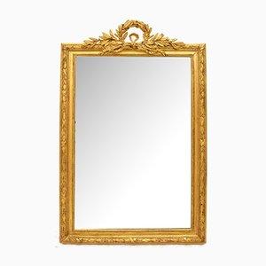 Miroir d'Époque avec Cadre Feuille d'Or