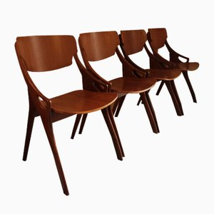 Mid-Century Dining Chairs by Arne Hovmand-Olsen for Mogens Kold, 1960s, Set of 4