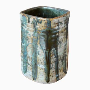 Brutalist Stoneware Vase by Danika, 1970s