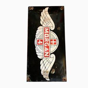 Emailliertes Schild von Morgan Auto, 1940er
