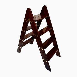 Victorian Mahogany Library Ladder, 1890s