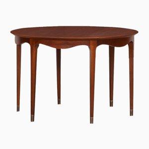 Walnut Side Table by Ole Wanscher for A.J. Iversen, 1950s